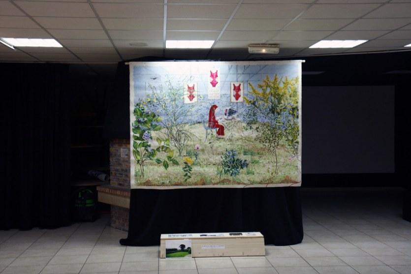 Le rêve ou la jeune fille au voile rouge , PLM Pilier Rouge, Brest, octobre 2012, Marie-Claire Raoul