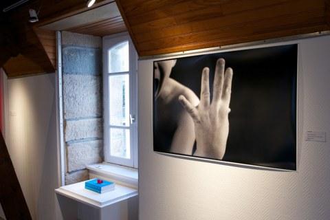 Vue de l'exposition [lcause s'expose], le cri, Maison de la Fontaine, Brest, novembre 2015 à janvier 2016