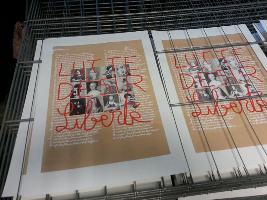 Workshop sérigraphie à l'atelier La presse purée à Rennes, impression finie
