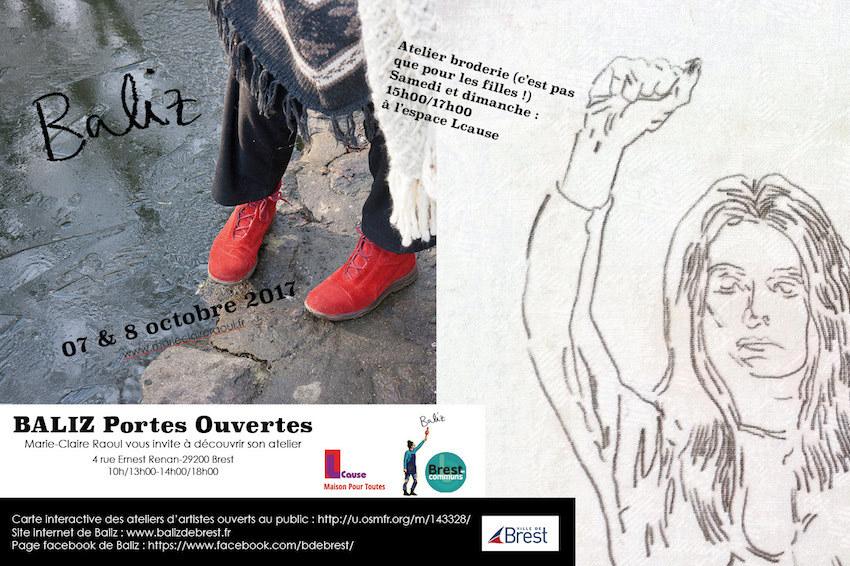 Portes ouvertes Baliz 2017 atelier d'artiste Marie-Claire Raoul
