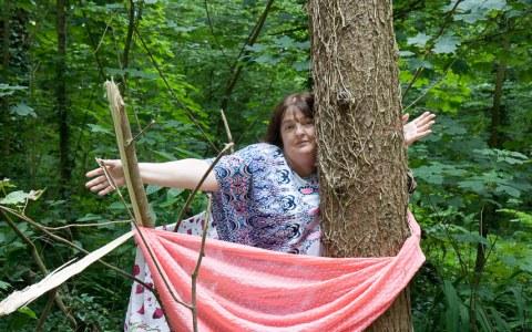 Sylvie, bois de Keroual, 22 juin 2017, photographie de Marie-Claire Raoul