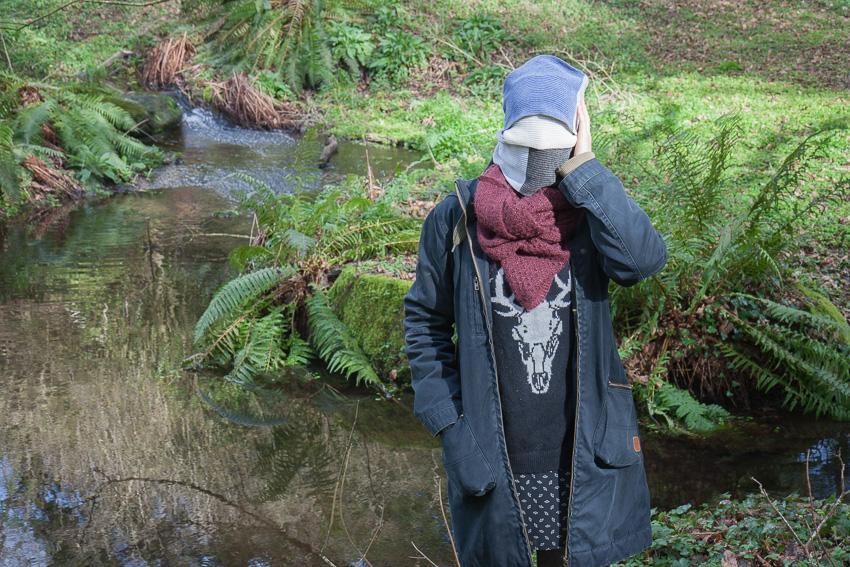 Anna, bois de Keroual, 23 février 2017, série photographique [Je voudrais aller me promener dans les bois], résidence espace Lcaus, © Marie-Claire Raoul, Marie-Claire Raoul
