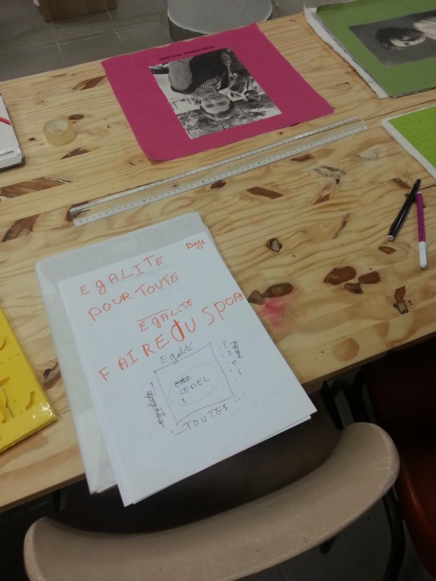 Atelier #3 Paroles et images de femmes, 27 janvier 2018, salières de Laënig et papillons rêvent en papier,Marie-Claire Raoul, Local de la Pointe, Brest