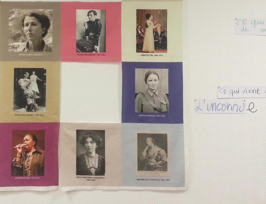 Atelier #3 Paroles et images de femmes, 27 janvier 2018, l'inconnue, Marie-Claire Raoul, Local de la Pointe, Brest