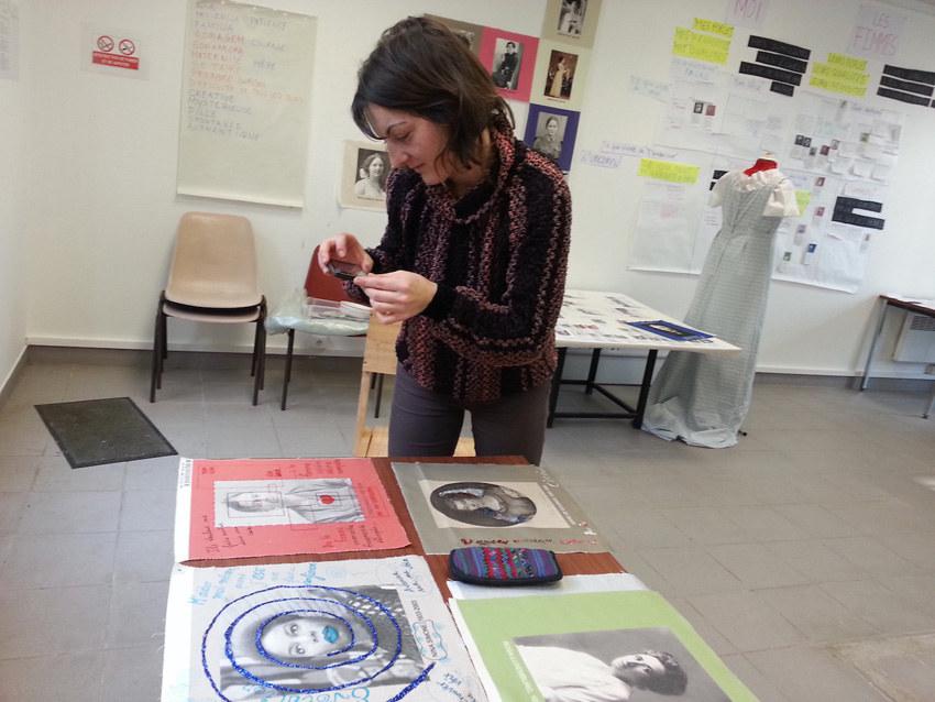 Atelier #7 Paroles et images de femmes, 22 février 2018, Sarah, Marie-Claire Raoul, Local de la Pointe, Brest