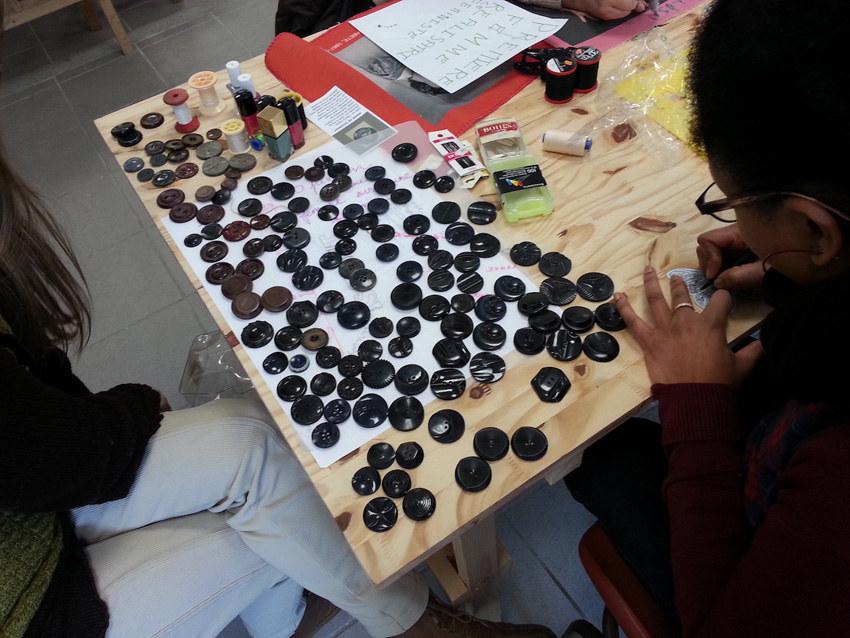 Atelier #7 Paroles et images de femmes, 22 février 2018, les boutons de Marie-Odile, Marie-Claire Raoul, Local de la Pointe, Brest