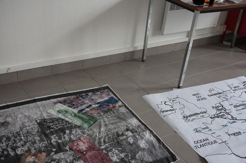 Atelier #8 Paroles et images de femmes, 28 février 2018, montage le Gac-Salonne Lemel Zedkin Grünig en cours,, Marie-Claire Raoul, Local de la Pointe, Brest
