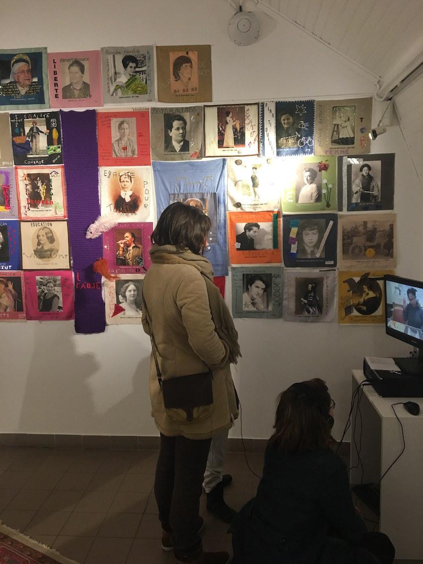 """Vernissage de l'exposition """"Paroles et images de femmes de Brest à Kiel"""" le 7 mars 2018 à la maison de La Fontaine à Brest"""