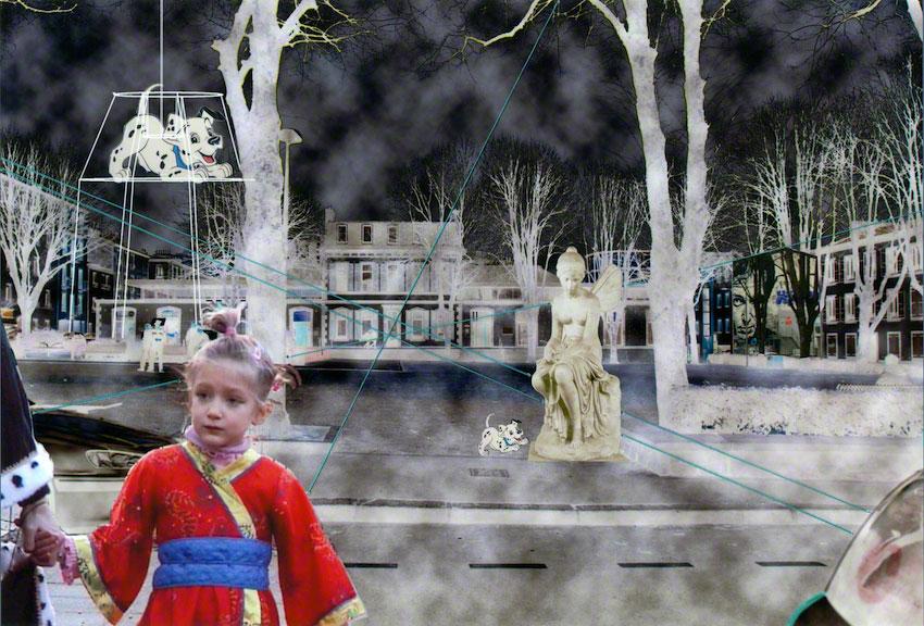 Psyché ou Adèle dans la ville, photo-montages, Marie-Claire Raoul, Marie-Claire Raoul