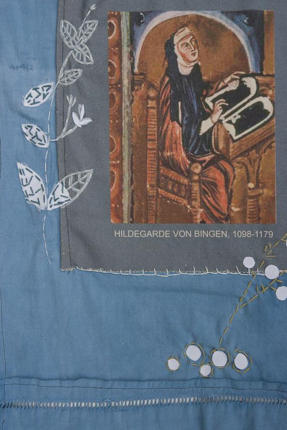 Création de Muriel Florentin, installation textile collective, Paroles et images de femmes, Lcause, Brest, exposition de mai à juin 2018, Marie-Claire Raoul