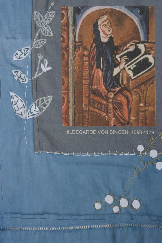 Création de Muriel, installation textile collective, Paroles et images de femmes, Lcause, Brest, exposition de mai à juin 2018, Marie-Claire Raoul