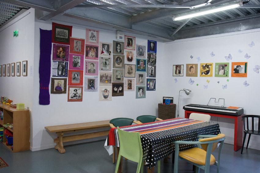 Installation textile collective, Paroles et images de femmes, Lcause, Brest, exposition de mai à juin 2018, Marie-Claire Raoul
