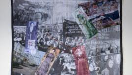 Panneau textile Le gac-Lemel-Zedkin-Gruenig, mars 2018, Marie-Claire Raoul