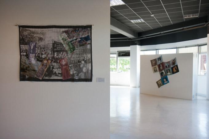 Présentation de l'exposition Paroles et images de femmes par l'artiste plasticienne Marie-Claire Raoul, à la galerie Les Abords, dans le cadre de l'académie d'été 2018 Etudes sur le genre organisée par l'UBO et l'université de Rennes