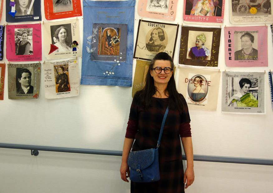 Vernissage de l'exposition [Paroles et images de femmes aux Amarres], Centre social et culturel Les Amarres à Brest, 07 janvier 2019, photo Yann Legall