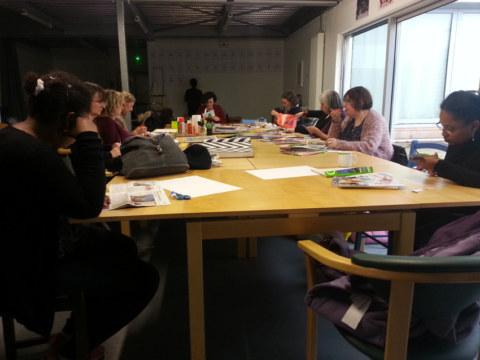Séquence 3 de l'atelier [femmes créatrices femmes libres] de Marie-Claire Raoul, 15 mars 2019, photomontages