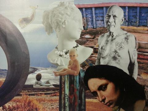 Séquence 3 de l'atelier [femmes créatrices femmes libres] de Marie-Claire Raoul, 15 mars 2019, photomontages de Sylvie Hardy