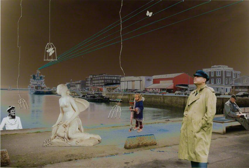 Psyché ou Adèle dans la ville, quai de la Douane, Brest, photo-montages, Marie-Claire Raoul, Marie-Claire Raoul