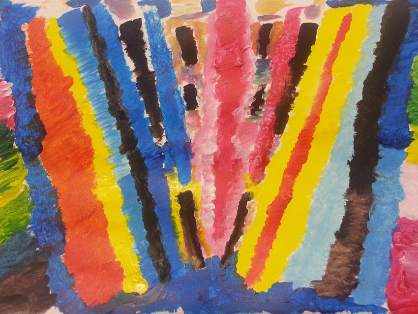 Séquence 4 de l'atelier [femmes créatrices femmes libres] de Marie-Claire Raoul, 22 mars 2019, couleurs de soi, Nadia