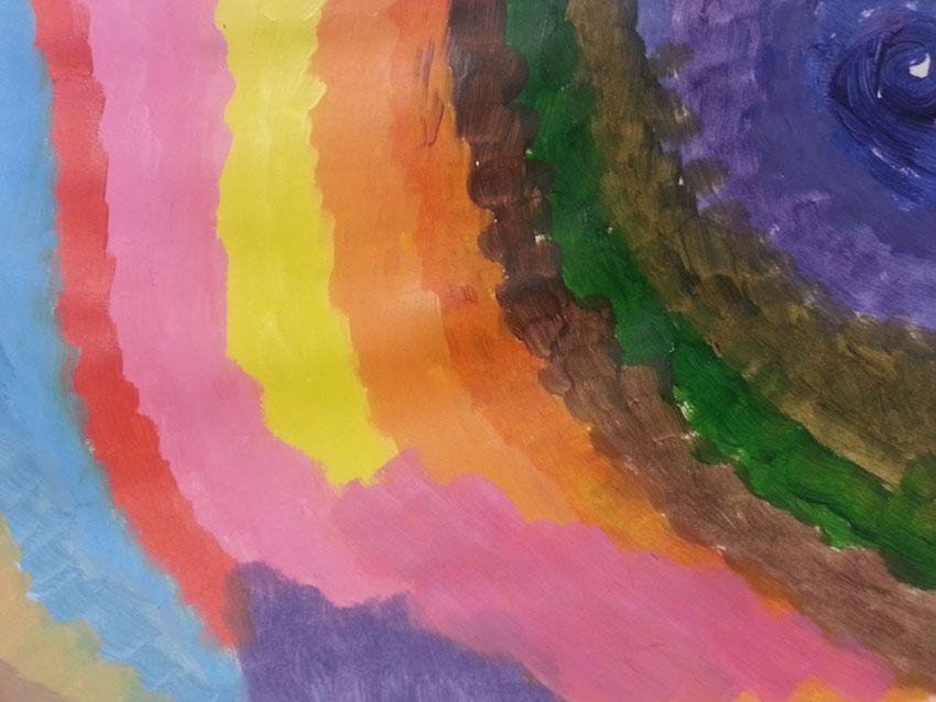 Séquence 4 de l'atelier [femmes créatrices femmes libres] de Marie-Claire Raoul, 22 mars 2019, couleurs de soi, Gaëlle