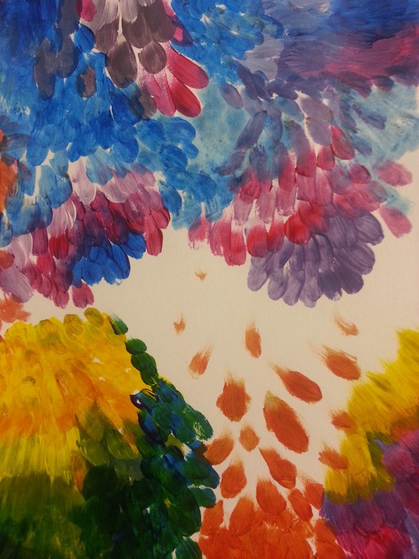 Séquence 4 de l'atelier [femmes créatrices femmes libres] de Marie-Claire Raoul, 22 mars 2019, couleurs de soi, Élisa
