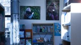 Vue de l'exposition de photographies [État second] de Marie-Claire Raoul,médiathèque St Martin à Brest, du 19 janvier au 2 mars 2019