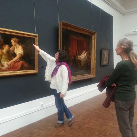 Deuxième visite du Musée des Beaux-Arts de Brest le 7 février 2019 avec la guide conférencière Élodie Poiraud dans le cadre de l'atelier [Femmes créatives, femmes libres] de Marie-Claire Raoul