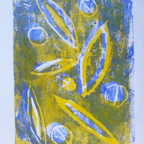 Atelier [Femmes créatrices, femmes libres], séquence 6, linogravure, création de Dany Soubigou , 5 avril 2019 à la Maison Pour Toutes Lcause avec Marie-Claire Raoul