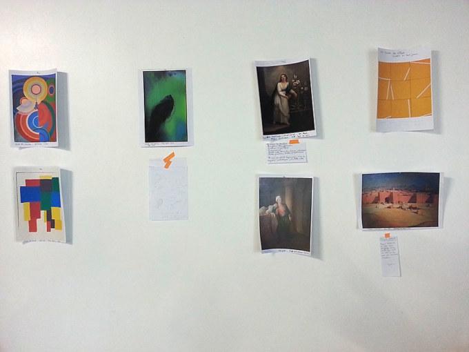 Atelier [Femmes créatrices, femmes libres], séquence 7, mise au point sur l'œuvre choisie, 26 avril 2019 à la Maison Pour Toutes Lcause avec Marie-Claire Raoul