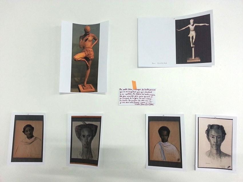 Atelier [Femmes créatrices, femmes libres], séquence 7, mise au point sur les œuvres, 26 avril 2019 à la Maison Pour Toutes Lcause avec Marie-Claire Raoul