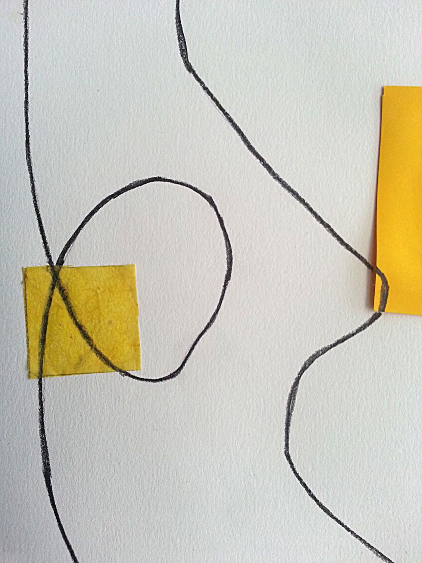 Atelier [Femmes créatrices, femmes libres], séquence 11, interprétation de Dany Soubigou de[Parallèles sur fond jaune] de Véra Molnar, 31 mai 2019 à la Maison Pour Toutes Lcause avec Marie-Claire Raoul
