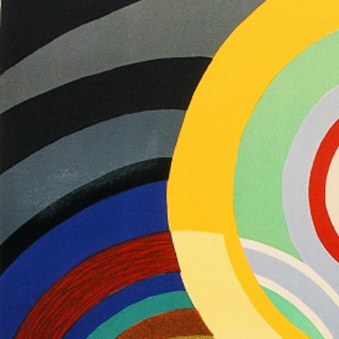[Automne], détail, lithographiede Sonia Delaunay