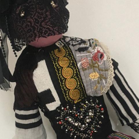 Atelier [Femmes créatrices, femmes libres], séquence 12, interprétation libre de Dany Soubigou de [Automne] de Sonia Delaunay, 12 juin 2019 à la Maison Pour Toutes Lcause avec Marie-Claire Raoul