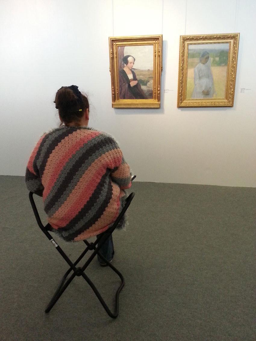 Atelier [Femmes créatrices, femmes libres], 23 mai 2019, séquence 10, dessin au musée des Beaux-Arts de Brest avec Marie-Claire Raoul