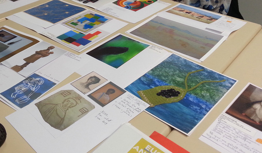 Atelier [Femmes créatrices, femmes libres], séquence 13, collage collectif, 14 juin 2019 à la Maison Pour Toutes Lcause avec Marie-Claire Raoul