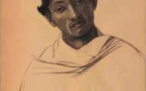 Portrait d'Aazaf Natzimma, fusain sur papier d'Anna Quinquaud, vers 1933