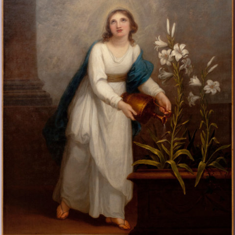 Allegorie chrétienne d'Angelica Kauffmann, huile sur toile, 1798