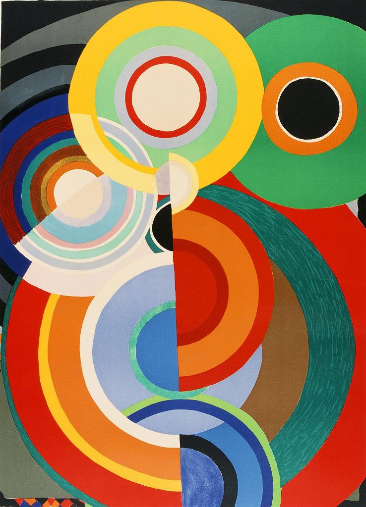 Automne de Sonia Delaunay, lithographie en couleurs, 1965