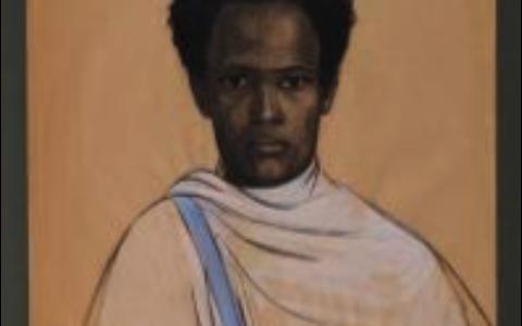 Portrait d'Émina Emi, Anna Quinquaud, fusain et gouache sur papier, 1932