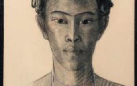 Portrait d'un jeune Hova, fusain sur papier, Anna Quinquaud, vers 1933