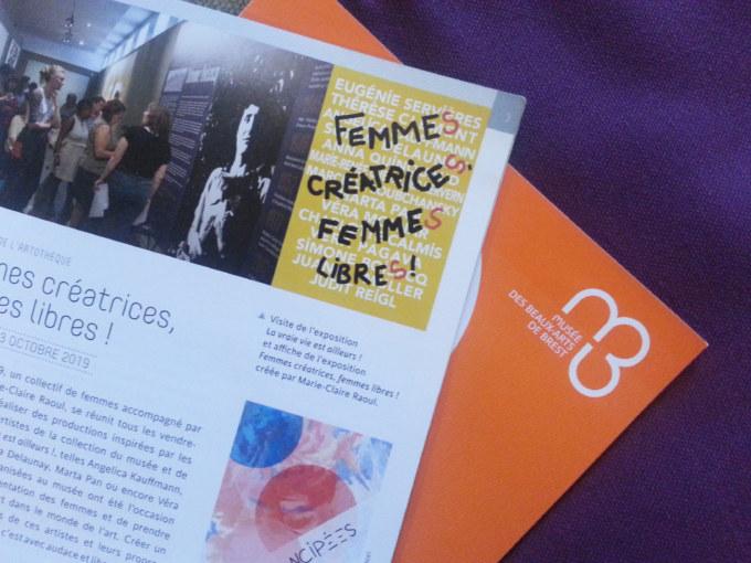 Programme du musée des beaux-arts de Brest, septembre 2019 à janvier 2019