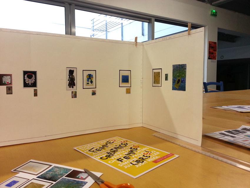 Préparation de l'exposition [Femmes créatrices, femmes libres], scénographie, septembre 2019, Marie-Claire Raoul