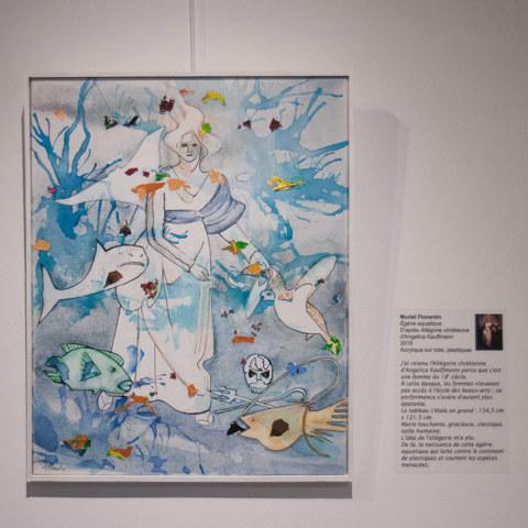 Exposition [Femmes créatrices, femmes libres !] du 3 au 13 octobre 2019 au musée des beaux-arts de Brest, restitution d'un projet conçu et animé par la plasticienne Marie-Claire-Raoul, peinture de Muriel Florentin
