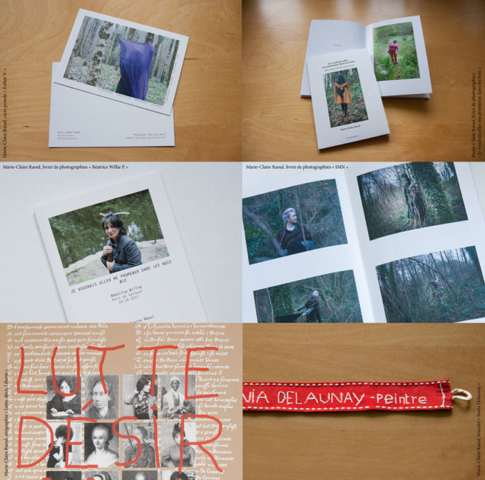 Planches photos de la plasticienne et photographes Marie-Claire Raoulpour le salon de la petite édition Multiples #14 à Morlaix le 9 et 10 novembre.