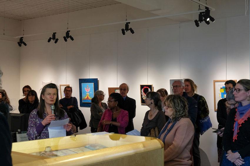 Vernissage de l'exposition [Femmes créatrices, femmes libres !] le 2 octobre 2019 au musée des beaux-arts de Brest, projet conçu et animé par Marie-Claire-Raoul
