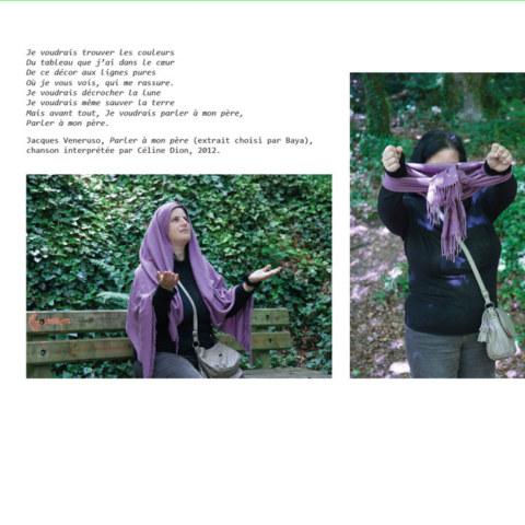 BAT du livre [Je voudrais aller me promener dans les bois : Métamorphoses], photographies et textes de Marie-Claire Raoul, novembre 2019, page de Baya