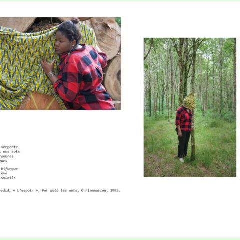 BAT du livre [Je voudrais aller me promener dans les bois : Métamorphoses], photographies et textes de Marie-Claire Raoul, novembre 2019, page de Deborah
