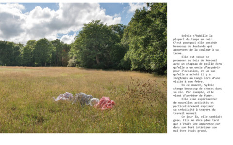 BAT du livre [Je voudrais aller me promener dans les bois : Métamorphoses], photographies et textes de Marie-Claire Raoul, novembre 2019, page de Sylvie