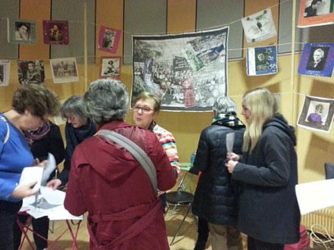 Table ronde [Choeur de femmes : un autre regard] et exposition [En avant toutes !] de Marie-Claire Raoul à la MPT Ergué-Armel à Quimper le 11 mars 2020