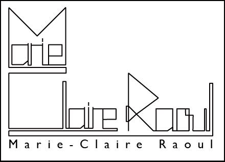 Logo du portfolio de l'artiste plasticienne Marie-Claire Raoul pour écran rétina